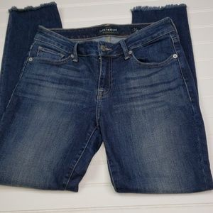 Lucky Brand Lolita Skinny fray hem jeans sz 6/28